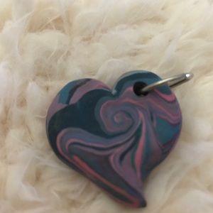 Ceramic Puff Heart Pendant
